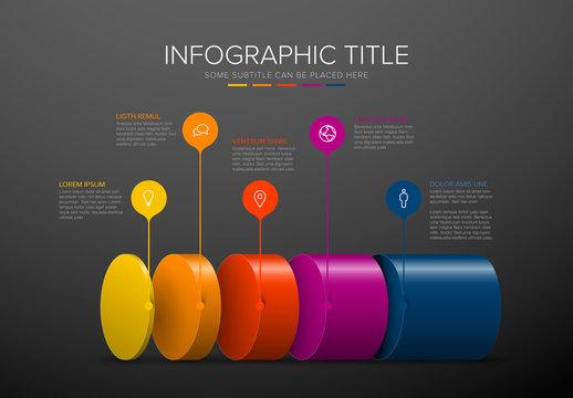 Layers Dark Infographic Layout