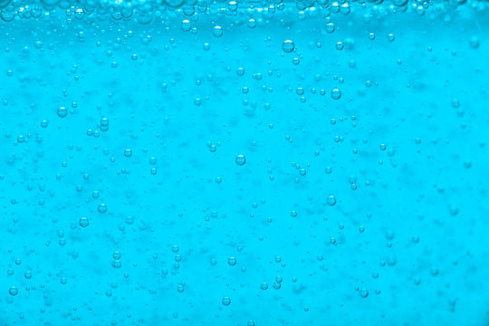 Blue water liquid bubble background with bubbles