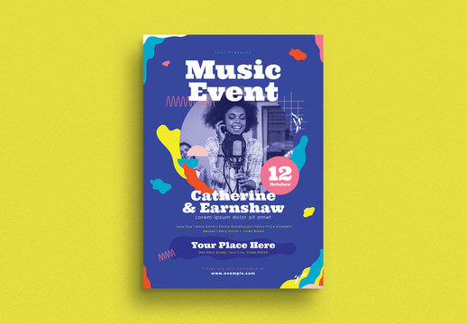 Music Event Flyer Layout