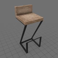 Modern wooden bar stool