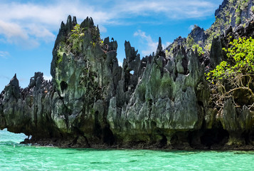 Poster Blue Magnificent landscapes of the islands off Palawan in the Philippines