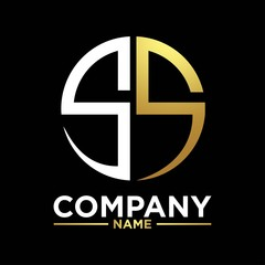 SS initials circle logo monogram designs modern templates luxurious .