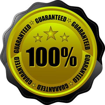 100% customer satisfaction guaranteed badge