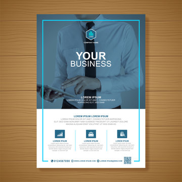 Corporate business cover a4 template and flat icons for a report and brochure design, flyer, banner, leaflets decoration for printing and presentation vector illustration