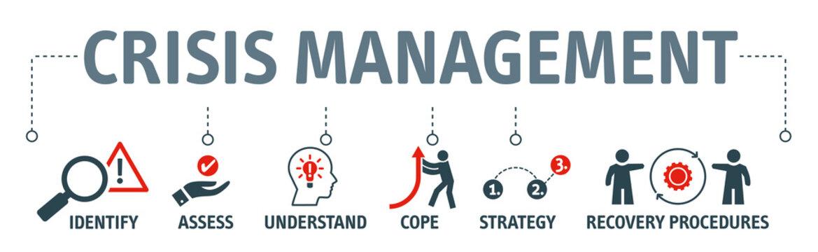 crisis management vector illustration concept