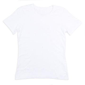 White tshirt on white surface