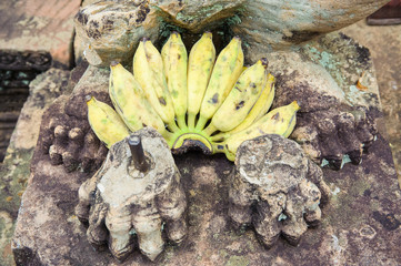 Banteay Srey Banana Offering