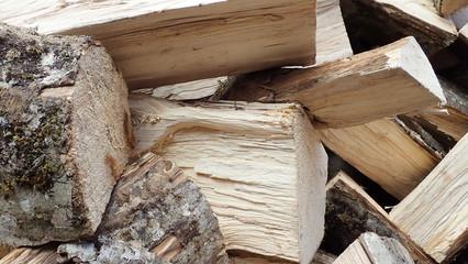 Foto auf AluDibond Brennholz-textur bois de chauffage
