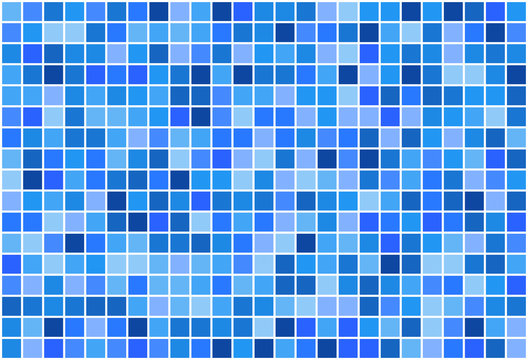 Mosaic pattern from blue color shades with white borders, vector illustration for backgrounds