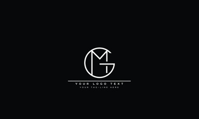 Fototapeta GM ,MG ,G ,M  Letter Logo Design with Creative Modern Trendy Typography  obraz