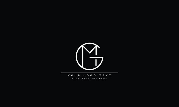 GM ,MG ,G ,M  Letter Logo Design with Creative Modern Trendy Typography