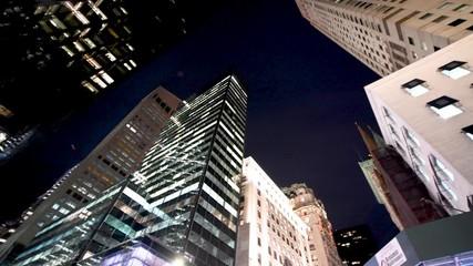 Wall Mural - NEW YORK CITY - DECEMBER 2018: Street view of Manhattan skyscrapers, New York City, USA