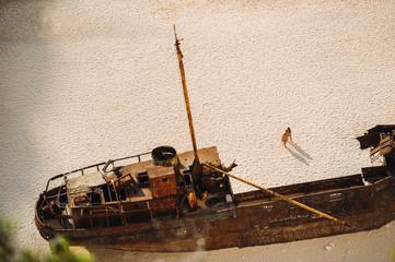 Poster Naufrage Navagio beach. Shipwreck bay, Zakynthos island, Greece. View from above.