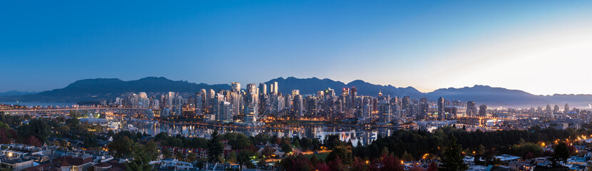 Vancouver Skyline with North Shore Mountains