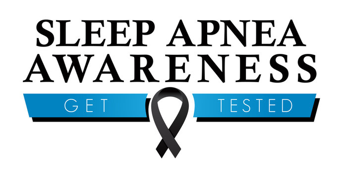 Sleep Apnea Awareness Ribbon | Logo to Increase Recognition of Sleep Disorders & Promote Testing | Vector Health Education Symbol