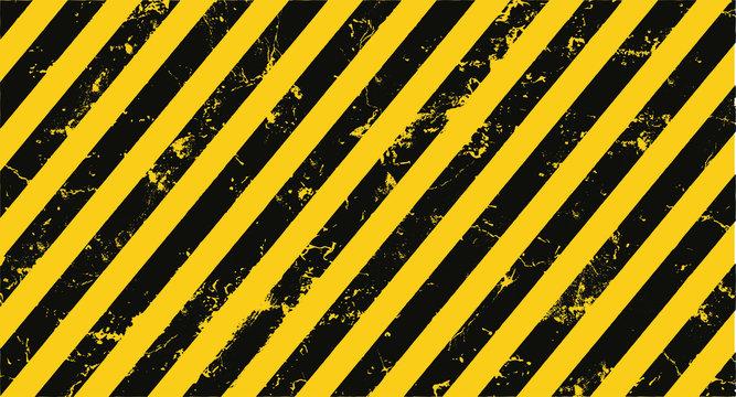 yellow hazard stripes