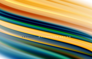 Fototapete - Abstract background - fluid color gradient waves, with dynamic motion line effect. Vector Illustration For Wallpaper, Banner, Background, Card, Book Illustration, landing page