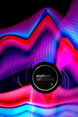 Fototapete - Liquid gradients abstract background, color wave pattern poster design for Wallpaper, Banner, Background, Card, Book Illustration, landing page