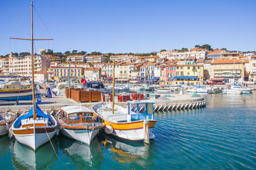 Wall Murals Ship The port of Cassis, south of France