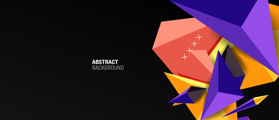 Fototapete - Trendy simple triangle abstract background, dynamic motion concept. Vector Illustration For Wallpaper, Banner, Background, Card, Book Illustration, landing page