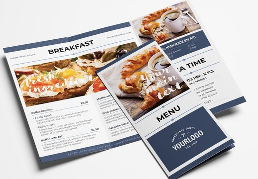 Simple Trifold Menu Layout