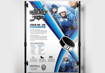 College Ice Hockey Poster Layout