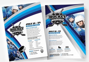 College Hockey Poster Layouts