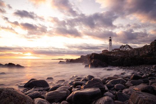 Maine Lighthouse Portland Head Light