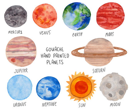 Set With Planets Of The Solar System