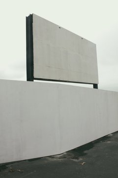 Blank Billboard Against Clear Sky