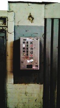 Condom Vending Machine On Wall