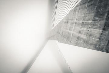 Puente atirantado de Talavera de la reina  en una mañana de niebla y frio, las fotos recrean un efecto poco habitual y dificil de conseguir en blanco y negro quedan muy bien.