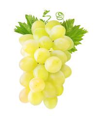 Fototapete - Fresh grapes isolated on white background