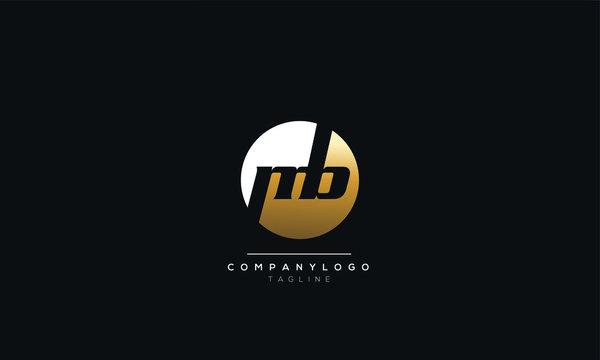 mb Letter Logo Design Icon Vector Symbol