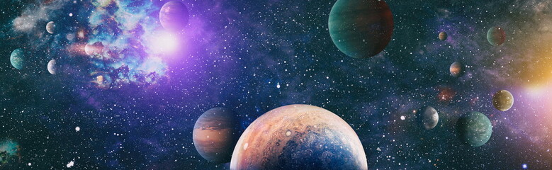 Printed kitchen splashbacks Universe Space background with nebulas and stars. This image elements furnished by NASA
