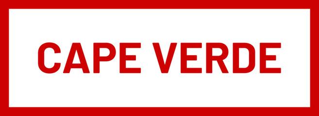 Foto auf AluDibond Rot kubanischen web Label Sticker Cape Verde