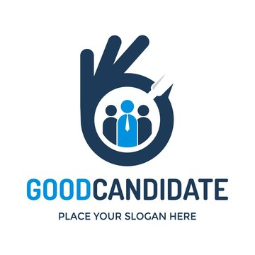 Good candidate vector logo template. This design use human with tie. Suitable for job recruitment business