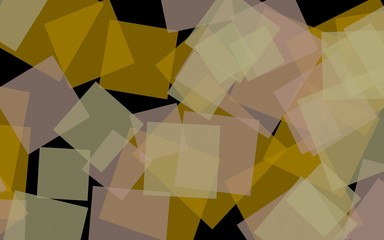 Printed roller blinds Geometric animals Multicolored translucent squares on dark background. 3D illustration