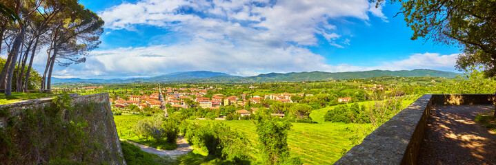 Panoramic view of the old town of Arezzo, Tuscany, Italy.
