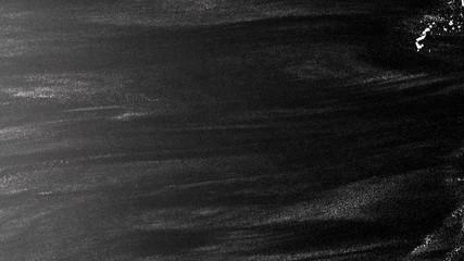 Fototapeta Rozsypana mąka na czarnym tle. Czarne tło tekstura obraz