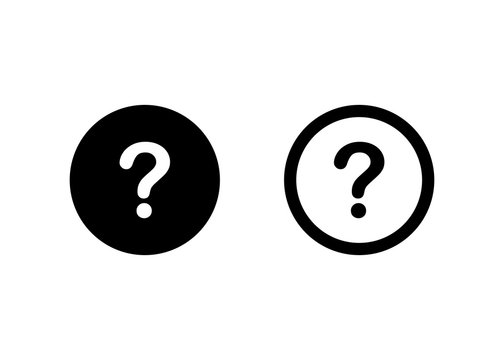 Question mark icon, Question mark sign and symbol vector Design