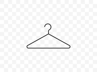 Clothes hanger icon. Vector illustration, flat design.