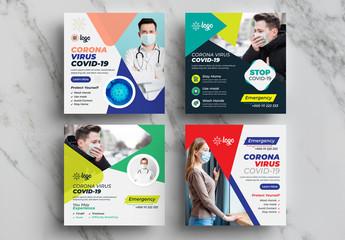 COVID-19 Social Media Layout Pack