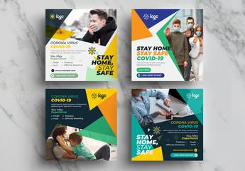 Coronavirus Social Media Layout Pack