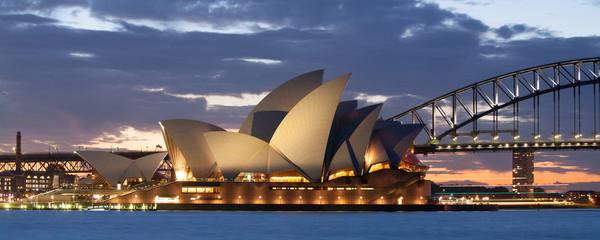 Sydney Opera House and Bridge at Dusk