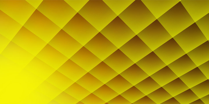 Abstract geometric square pattern background with yellow shapes perspective
