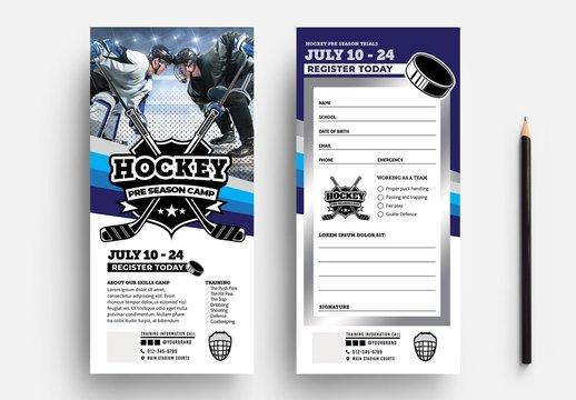 Ice Hockey DL Flyer Layout