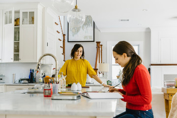 Family Lifestyle image of Mother and Daughter at Home