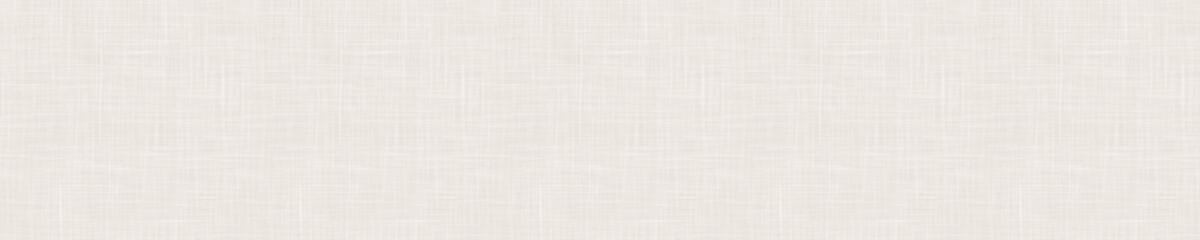 Seamless beige woven linen texture border background. Ecru flax hemp fiber natural pattern. Organic fibre close up weave fabric for surface material. Ecru natural gray cloth textured banner ribbon. Wall mural