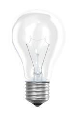Light bulb isolated on white 3d rendering